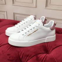 Low top shoes Other / other top layer leather Flat bottom Shallow mouth Low heel (1-3cm) top layer leather Summer 2021 Frenulum street Sewing shoes Youth (18-40 years old) Graffiti genuine leather Single shoes top layer leather daily Face dressing Round head milky white Female 35
