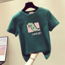 Women's large Summer 2021 Cartoon dinosaur white cartoon dinosaur black cartoon dinosaur red cartoon dinosaur green cartoon dinosaur yellow M [80-100 Jin] l [100-120 Jin] XL [120-140 Jin] 3XL [160-180 Jin] 2XL [140-160 Jin] 4XL [180-200 Jin] T-shirt singleton  commute easy thin Socket Short sleeve