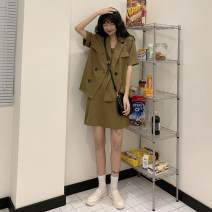 Quick drying pants female one hundred and four point six zero 51-100 yuan Tagkita / she and others Black coat + Black suspender skirt , Caramel coat + Caramel suspender skirt , Collection Plus purchase priority delivery S,M,L,XL Summer 2020