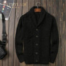 T-shirt / sweater CATHYLADI / Cass · Lardy Fashion City black S. M, l, XL, 2XL, 3XL, 4XL (190-210kg) thickening Cardigan Lapel Long sleeves C02051D winter Slim fit 2021 leisure time Exquisite Korean style youth routine Solid color other Regular wool (10 stitches, 12 stitches) Armband