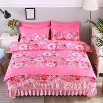 Bed skirt 231.5m bed skirt four piece quilt cover 200x23 cotton Other / other Plants and flowers Qualified products