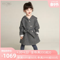 woolen coat Royal Blue 110/56 120/60 130/64 140/64 150/68 female erdos KIDS wool There are models in the real shooting nothing leisure time routine spring and autumn Single breasted Wool 75% polyester fiber 24% polyurethane elastic fiber (spandex) 1% lattice other K406K2001 Class B Autumn 2020
