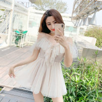 Dress Summer of 2019 Apricot S,XL,XS,L,M Other / other