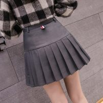 skirt Summer 2020 S,M,L,XL,XXL Dark grey, black, white, light grey Short skirt Versatile High waist Pleated skirt Solid color Type A 18-24 years old OM1023 51% (inclusive) - 70% (inclusive) Other / other polyester fiber Splicing 201g / m ^ 2 (including) - 250G / m ^ 2 (including)