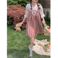 Dress Type A Summer 2021 Sleeveless singleton  other other Sweet Medium length skirt 18-24 years old cotton 30% and below S,M