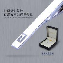 Tie clip Silver loop ldj223 (length 6cm, width 0.6cm), gold loop ldj351a (length 6cm, width 0.6cm), short silver loop ldj339a (length 4cm, width 0.6, black gray mirror loop tie clip ldj381a, [main picture silver tie clip + custom lettering clothing] alloy Other S3701LDJ223