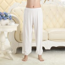Pajamas / housewear Other / other male trousers Thin money Leisure home motion Solid color summer rubber string High waist youth cotton More than 95% 200g and below printing