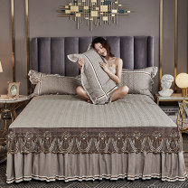 Bed skirt cotton Light gray, Pink Jade, bean paste, grass green, beige, khaki, pink, scarlet Beautiful night Solid color Qualified products