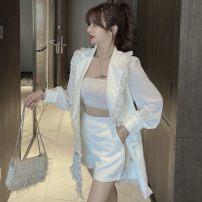 Fashion suit Autumn 2020 S,M,L White, black 18-25 years old R8 . thirteen