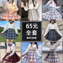skirt Winter 2020 XS S M L XL XXL Short skirt Versatile High waist Pleated skirt lattice Type A 18-24 years old JK skirt A1 More than 95% other lnlp other Three dimensional decorative button zipper with pleated pocket Other 100% 201g / m ^ 2 (including) - 250G / m ^ 2 (including)