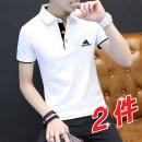 T-shirt M L XL 2XL 3XL 4XL Spring 2021 Short sleeve stand collar Medium length routine cotton 86% (inclusive) -95% (inclusive) Shengxuanlong AD-501 Cotton 95% polyurethane elastic fiber (spandex) 5%
