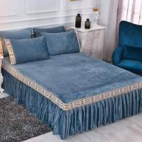 Bed skirt Others Royal blue, jade, apricot yellow, dark green, lake blue, bean paste, light gray Jiuzhou Island Solid color Qualified products