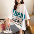 T-shirt White green black M L XL Summer 2021 Short sleeve Crew neck easy Medium length routine commute cotton 31% (inclusive) - 50% (inclusive) 18-24 years old Korean version originality letter Mushangbird printing Cotton 35% others 65% Pure e-commerce (online only)