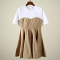 Dress Summer 2021 Yellowish brown XS,S,M Short sleeve Crew neck Yang Di Su 3D2O428 More than 95% other cotton