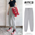 Casual pants S M L XL 2XL Spring 2021 trousers Haren pants High waist Versatile routine cotton pocket Cotton 70% polyester 25% polyurethane elastic fiber (spandex) 5%