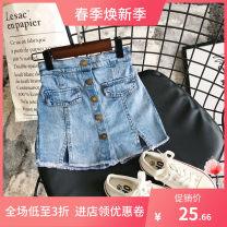 Vest female blue 100cm,110cm,120cm,130cm,140cm,150cm,160cm Other / other Solid color 3 months