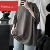 T-shirt / sweater nakabayashi other M L XL XXL Thin money Socket V-neck Short sleeve summer easy 2020 Cotton 100% leisure time American leisure teenagers routine Solid color Summer 2020 No iron treatment other other