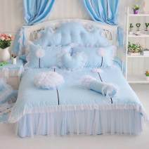 Bedding Set / four piece set / multi piece set cotton other Plants and flowers 133x72 Other / other cotton 4 pieces 40 1.2m (4 ft) bed, 1.5m (5 ft) bed, 1.8m (6 ft) bed, 2.0m (6.6 ft) bed, others Bedspread type Qualified products Princess style 100% cotton twill Reactive Print