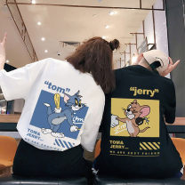 T-shirt XS S M L XL XXL XXXL Spring 2021 Short sleeve Hood easy Regular routine cotton 96% and above Cartoon animation Er Feng printing Cotton 100%