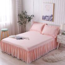 Bed make skirt European style Bed skirt singleton  Bedspread Bedspread pure cotton Double sheet mattress smart cover non-slip summer simple