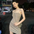 Dress Summer 2021 Picture color S M L XL Short skirt singleton  Sleeveless commute One word collar High waist lattice Socket A-line skirt routine camisole 25-29 years old Type A Sumeile backless zjfp565 More than 95% other Other 100% Pure e-commerce (online only)