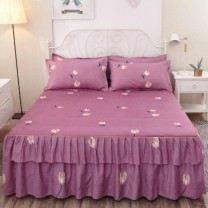 Bed skirt Two pillow cases for 150x200cm, two pillow cases for 180x220cm, two pillow cases for 200x220cm, two pillow cases for 120x200cm and two pillow cases for 180x200cm cotton Other / other Plants and flowers 59sDbVDY