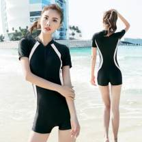 one piece  See description M (80-93 kg) conjoined flat angle, l (93-105 kg) conservative belly covering, XL (105-122 kg) nylon fabric preferred, 2XL (122-132 kg) skin friendly and comfortable, 3XL (132-140 kg), 4XL (140-150 kg) One piece flat corner swimsuit With chest pad without steel support