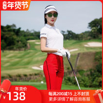 Golf apparel White coat, red trousers, white with black hat S. M, l, XL, one size fits all female Other / other trousers