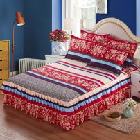 Bed skirt 150cmx200cm,180cmx200cm,200cmx220cm,120cmx200cm,180cmx220cm cotton Other / other Plants and flowers Qualified products