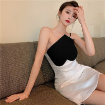 Dress Summer 2021 white S M Short skirt singleton  Sleeveless commute camisole 18-24 years old Meiyingfen Korean version 9093fcghfh More than 95% other Other 100%