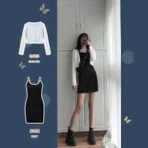 Cosplay women's wear Over 14 years old Other brands nothing goods in stock jacket comic [suit] white cardigan + black suspender skirt, [single] white cardigan, [single] black suspender skirt XS,S,M,L,XL