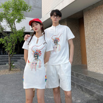 Dress Summer 2021 Men's trousers, men's coat and women's skirt S,M,L,XL,2XL,3XL Miniskirt singleton  Short sleeve commute stand collar High waist character A button other routine Others 18-24 years old Type A Serenity of Xiao Li Button 8089 (spot) 91% (inclusive) - 95% (inclusive) brocade other