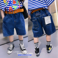 trousers Light AI neutral The recommended height is about 100cm for size 5, 110cm for size 7, 120cm for size 9, 130cm for size 11, 140cm for size 13, 150cm for size 15 and 160cm for size 17 Denim blue, denim blue summer Pant leisure time There are models in the real shooting Jeans Leather belt other