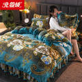 Bedding Set / four piece set / multi piece set Flannel other Others 200x95 Bejirog  Others 4 pieces 100 1.2m (4 ft) bed [three piece set], 1.5m (5 ft) bed [four piece set], 1.8m (6 ft) bed [four piece set], 2.0m (6.6 ft) bed [four piece set] Bed skirt Simplicity other