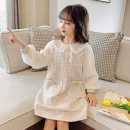 Dress female Other / other 110cm,120cm,130cm,140cm,150cm,160cm Cotton 90% other 10% spring and autumn Korean version Long sleeves Solid color cotton A-line skirt Class A 7, 8, 14, 3, 6, 2, 13, 11, 5, 4, 10, 9, 12 Chinese Mainland Shanghai