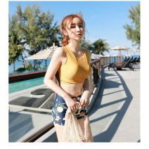 Split swimsuit Tagkita / she and others Yellow, red S. M, l, XL, one size fits all, please shoot With chest pad without steel support polyester fiber female