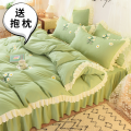 Bedding Set / four piece set / multi piece set Polyester (polyester fiber) Others, embroidery, cloth embroidery Cartoon animation 200x95 Luo Mengjie's family Others 4 pieces other Fitted sheet Qualified products Countryside other Reactive Print  MYXJ00069HD Thermal storage