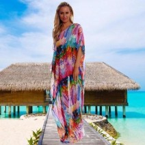 Beach pants Feather robe with belt Average size female Other / other ZS1001