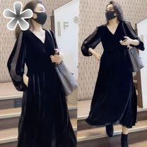 Dress Spring 2021 B26-n-black S,M,L,XL,2XL Other / other