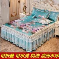 Bed skirt 120cmx200cm,135cmx200cm,150cmx200cm,180cmx200cm,200cmx200cm Others Edinburgh Garden - blue, flying southeast, looking for fragrance in dream, beautiful and moving, dyed in spring, fragrant in summer, blooming in a moment Other / other Solid color Qualified products