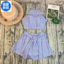 Split swimsuit Other brands M,L,XL,S Skirt split swimsuit With chest pad without steel support polyester fiber