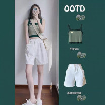 Fashion suit Summer 2021 S M L XL Suspender + shorts single suspender top single white shorts 18-25 years old Jozus / jiaozhuoshi zero point three zero five zero three Polyester 80% other 20% Pure e-commerce (online only)