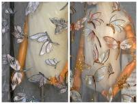 Fabric / fabric Apricot golden 50cm, blue pink 50cm, tips: buy 1 = 50cm long. 1.5m wide, tips: buy more length is continuous
