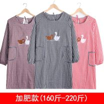 apron Sleeve apron antifouling Korean version pure cotton Household cleaning Average size Other public yes Cartoon