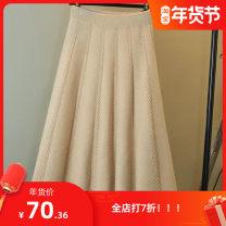 skirt Winter 2020 Average size 80-150kg O73-d-black, j87-e-apricot, i63-h-dark gray longuette A-line skirt N76233 Other / other