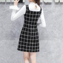 Parent child fashion Black vest skirt, black vest skirt + 6209 white base shirt, black vest skirt + 6209 black base shirt other female Other / other S,M,L,XL,2XL,3XL See description lattice other HSP5764 Polyester 100% 12 months