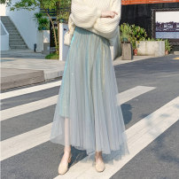 skirt Summer 2021 S,M,L,XL Blue, apricot, gray, black, caramel Mid length dress commute High waist Pleated skirt lattice Type A 18-24 years old 31% (inclusive) - 50% (inclusive) Wool Ocnltiy pocket 401g / m ^ 2 (inclusive) - 500g / m ^ 2 (inclusive)