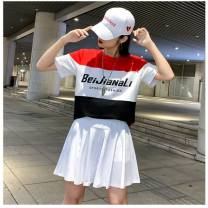 Square dance suit Other brands S,M,L,XL,2XL,3XL cotton female routine 25-29 years old, 30-39 years old, 40-49 years old, 50-59 years old, over 60 years old Two piece set Short sleeve show other yes other