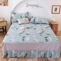 Bed skirt 100cmx200cm, 120cmx200cm, 135cmx200cm, 150cmx200cm, 180cmx200cm, 200cmx220cm, 180 * 220, a pair of the same pillow case cotton Other / other Plants and flowers First Grade