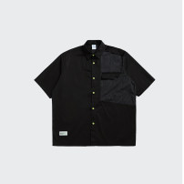 shirt Youth fashion inflation M,L,XL black routine other Short sleeve easy Other leisure summer 2256S21 teenagers 2021 Solid color other other Splicing